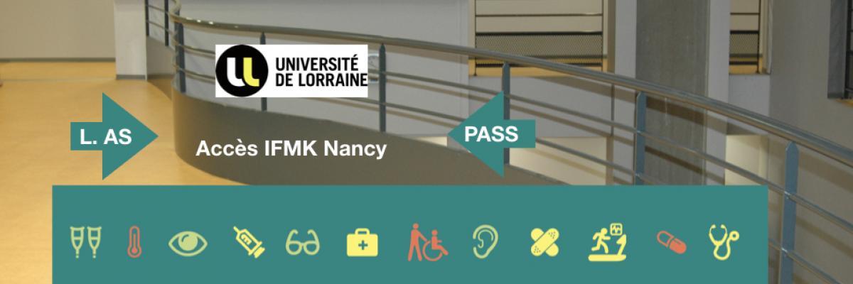 A compter de la rentrée 2021, les admissions à l'IFMK se font via le portail santé de l'université de Lorraine