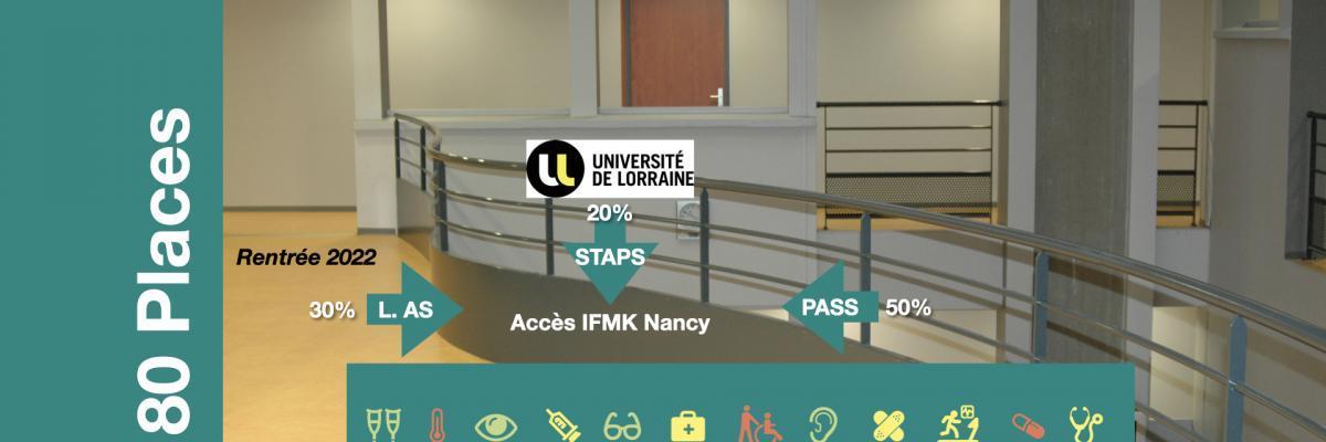 L'admission dans l'IFMK de Nancy se fait via l'université de Lorraine (cliquer sur l'image pour en savoir plus)